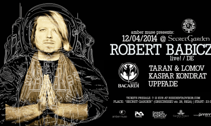 Robert Babicz из Германии даст электронное выступление в Риге 12 апреля