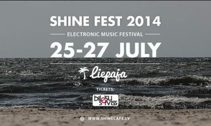 Shine Fest 2014 на пляже в Лиепае пройдет 25 и 26 июля