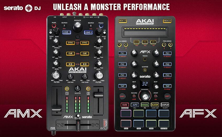 Serato и Akai выпустят совместные контроллеры AMX и AFX