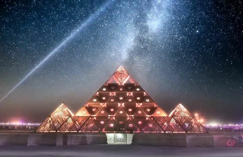 Смотрите видео с Burning Man: с высоты птичьего полета и в замедленном действии