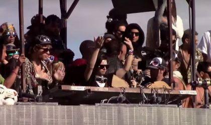 Skrillex сыграл хаус-сет на Burning Man