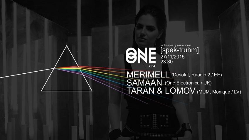 27 nov - [spek-truhm] @ One One