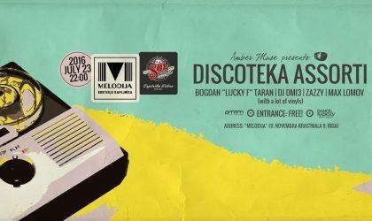 В эту субботу в баре Melodija пройдет Discoteka Assorti от Amber Muse