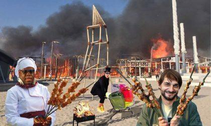 Никита Маршунок ответил на пожар в Поповке серией сатирических коллажей