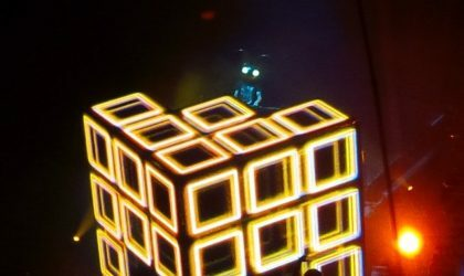 Deadmau5 показал свою новую кубическую сцену на фестивале Veld