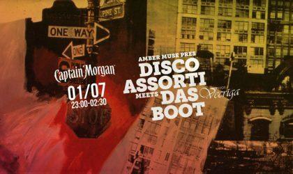 Вечеринка Amber Muse's Das Boot 1 июля пройдет в виниловом формате Disco Assorti