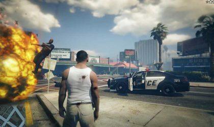 Как Grand Theft Auto V выглядела бы в реальной жизни