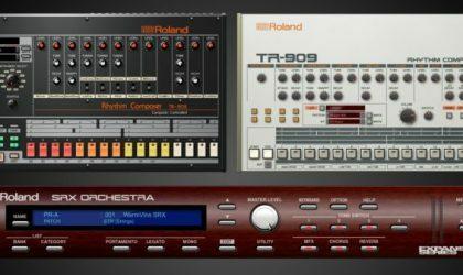 Roland сделала программные версии своих ритм-машин TR-808 и TR-909