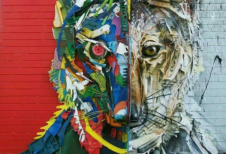 Португальский художник Bordalo II создает своих «Trash Animals» из всего, что найдется под рукой