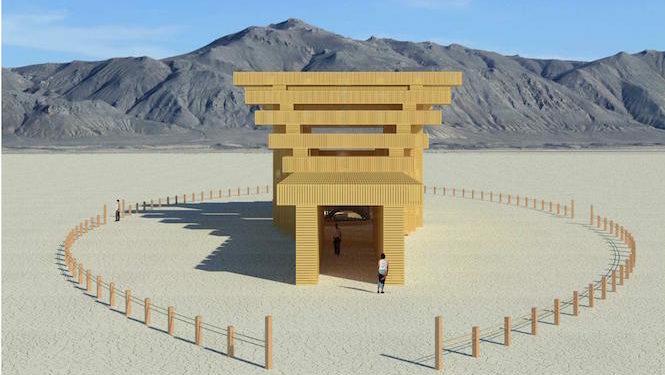 Храм Burning Man 2019 вдохновлен японской архитектурой