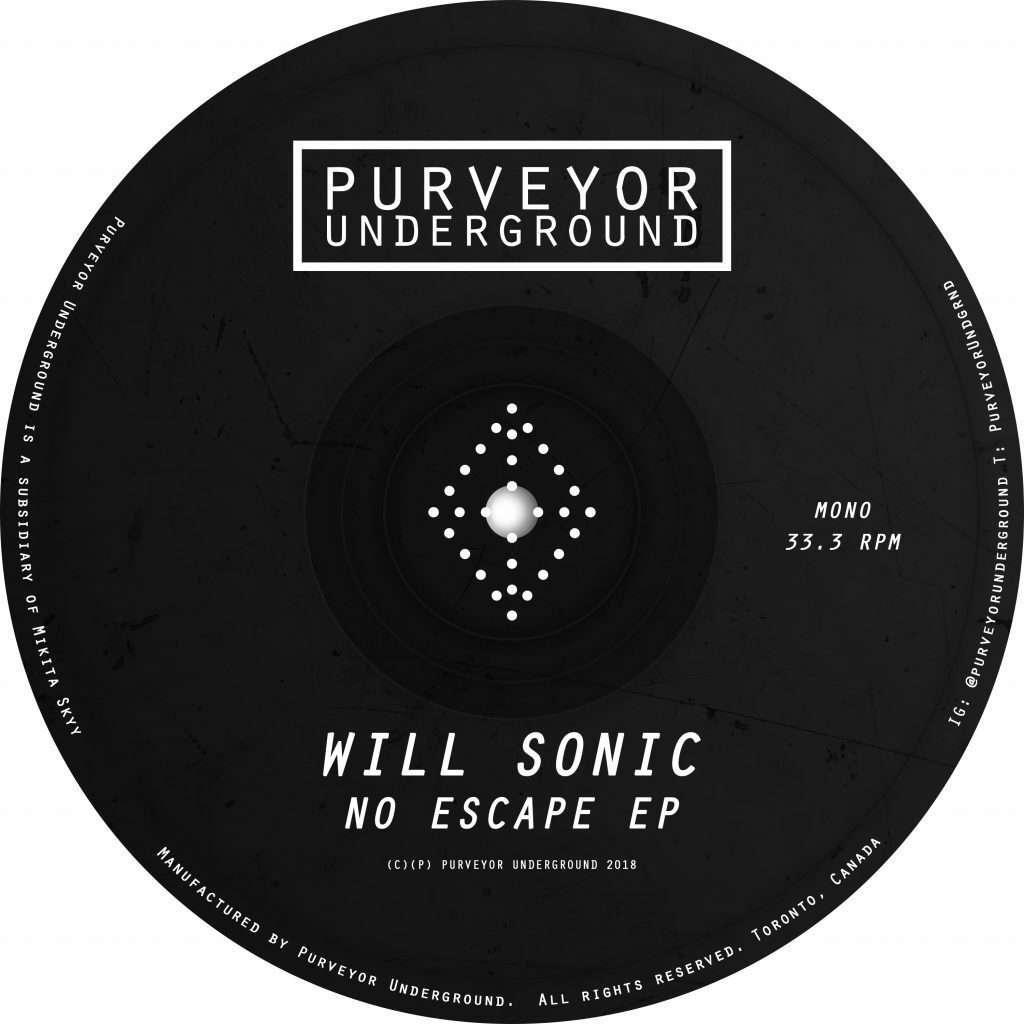 Will Sonic - No Escape (Purveyor Underground)