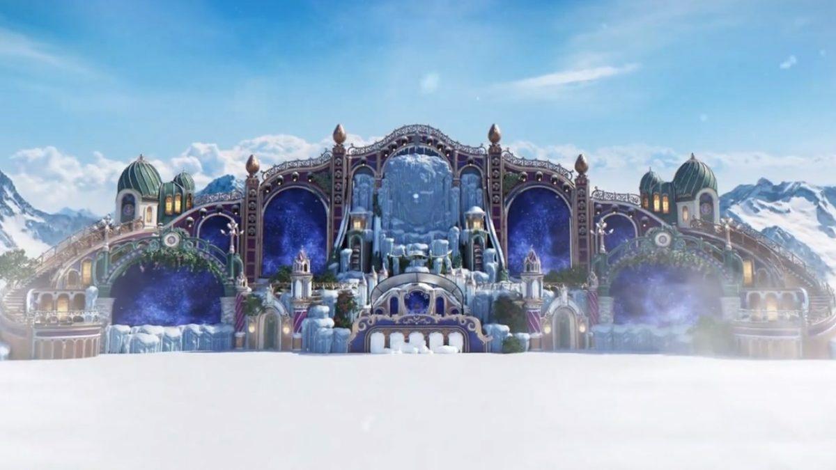 Смотрите видео с дизайном главной сцены Tomorrowland Winter