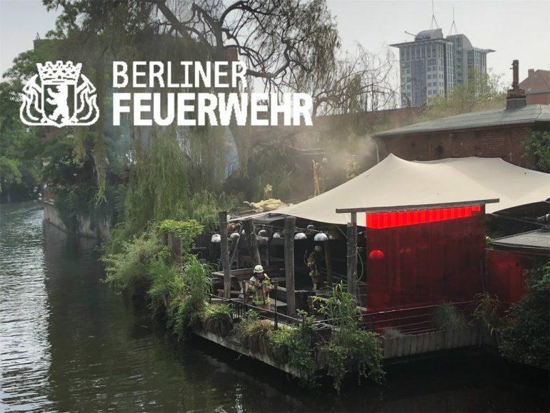 В берлинском Club der Visionaere случился сильный пожар