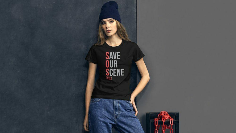 Запущена линия маек #SaveOurScene в поддержку электронной сцены