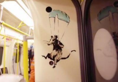 На граффити в лондонском метро Бэнкси призывает носить маски