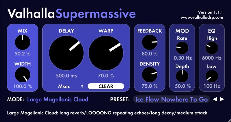 Вышло обновление бесплатного ревербератора Valhalla Supermassive